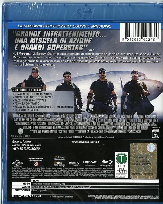 I mercenari 3. The Expendables di Patrick Hughes - Blu-ray - 2
