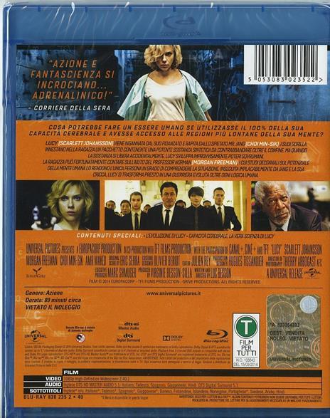 Lucy di Luc Besson - Blu-ray - 2