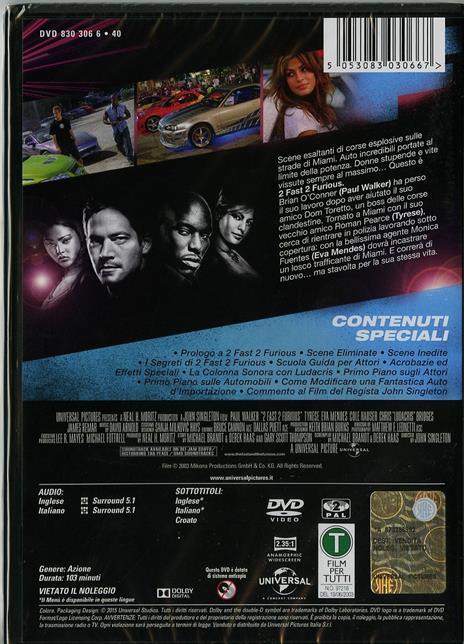 2 Fast 2 Furious di John Singleton - DVD - 2