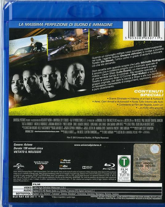 Fast & Furious 6 di Justin Lin - Blu-ray - 2