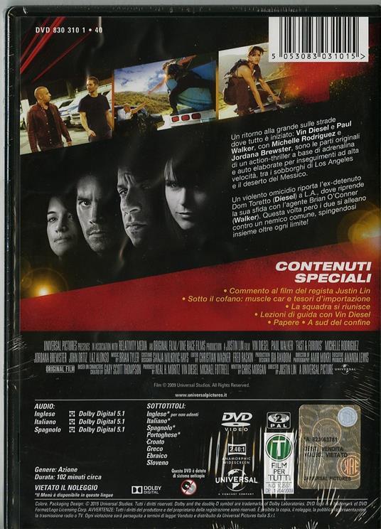Fast & Furious. Solo parti originali di Justin Lin - DVD - 2