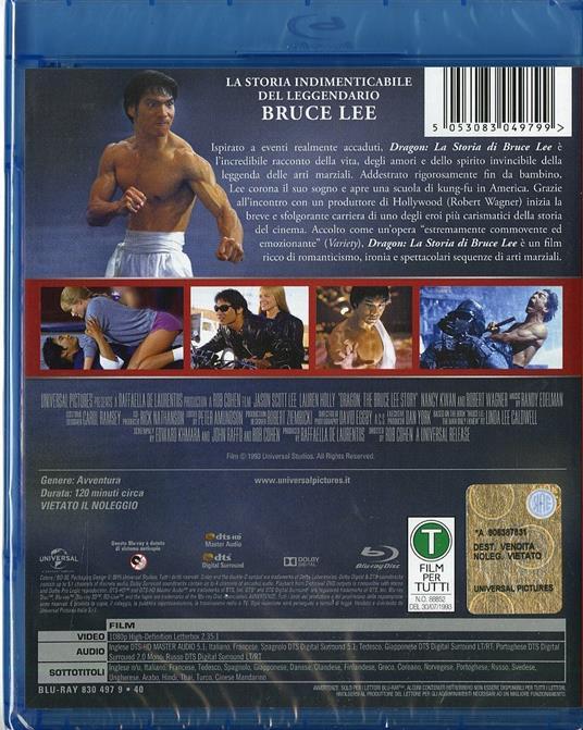 Dragon. La storia di Bruce Lee di Rob Cohen - Blu-ray - 2