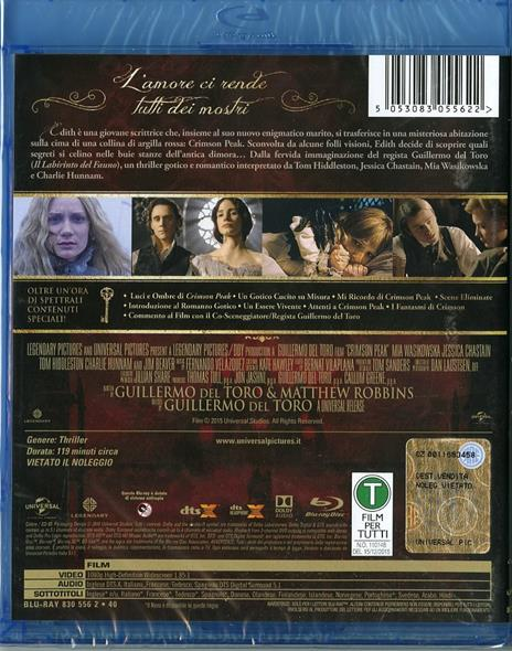 Crimson Peak di Guillermo Del Toro - Blu-ray - 2