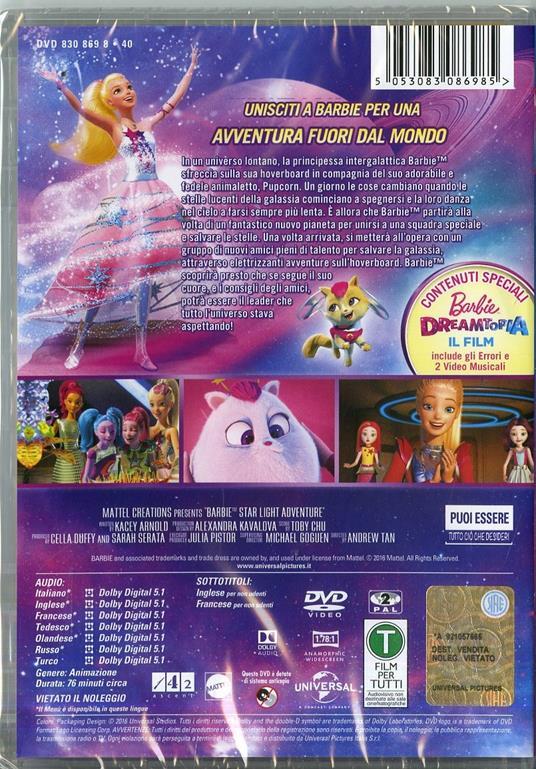 Barbie. Avventura stellare (2 DVD) di Andrew Tan,Michael Goguen - DVD - 2