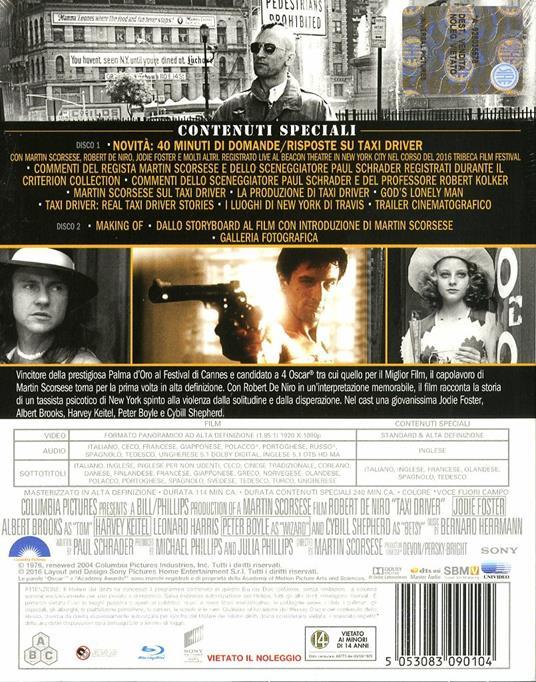 Taxi Driver<span>.</span> Edizione 40° anniversario di Martin Scorsese - Blu-ray - 2
