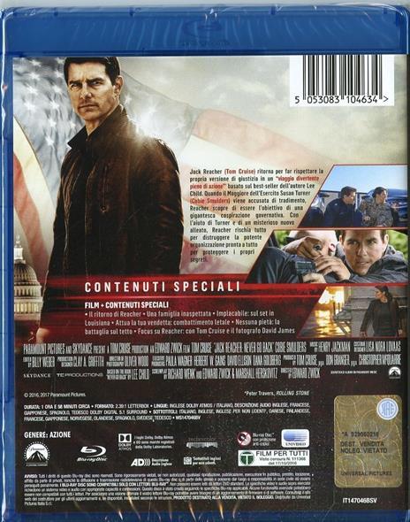 Jack Reacher. Punto di non ritorno (Blu-ray) di Edward Zwick - Blu-ray - 2