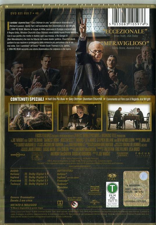 L' ora più buia (DVD) di Joe Wright - DVD - 2