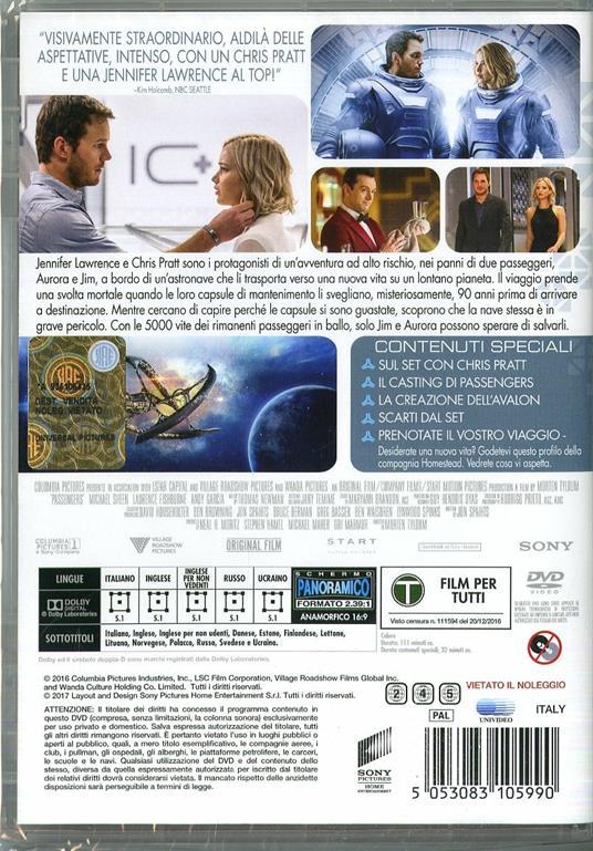 Passengers (DVD) di Morten Tyldum - DVD - 2
