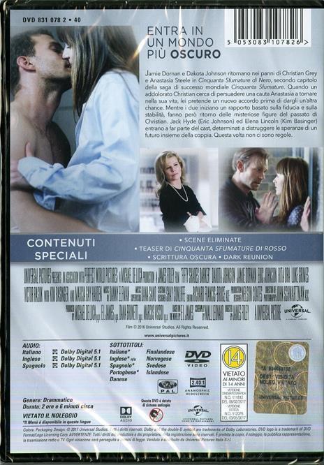 Cinquanta sfumature di nero (DVD) di James Foley - DVD - 2
