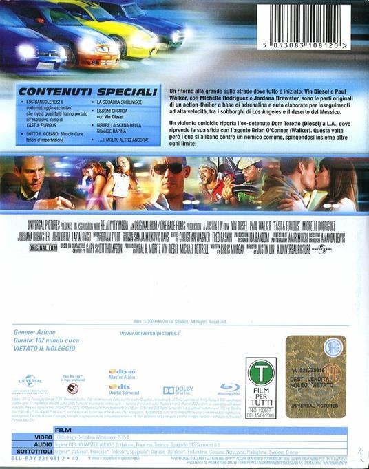 Fast & Furious. Solo parti originali. Con Steelbook (Blu-ray) di Justin Lin - Blu-ray - 2