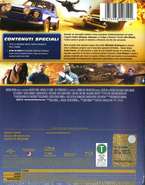 Fast & Furious 6. Con Steelbook (Blu-ray) di Justin Lin - Blu-ray - 2