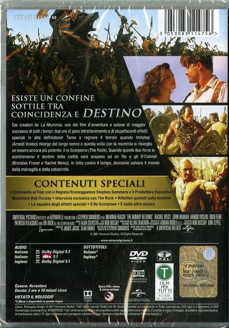 La Mummia. Il ritorno (DVD) di Stephen Sommers - DVD - 2