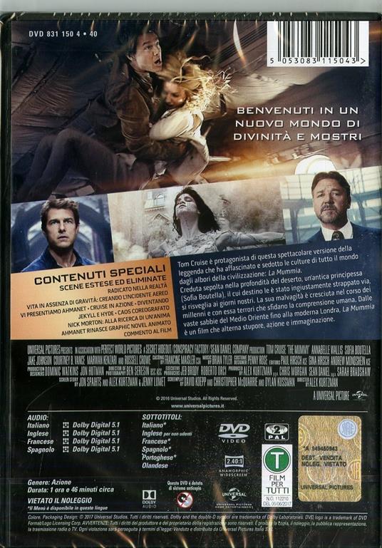 La mummia (DVD) di Alex Kurtzman - DVD - 2