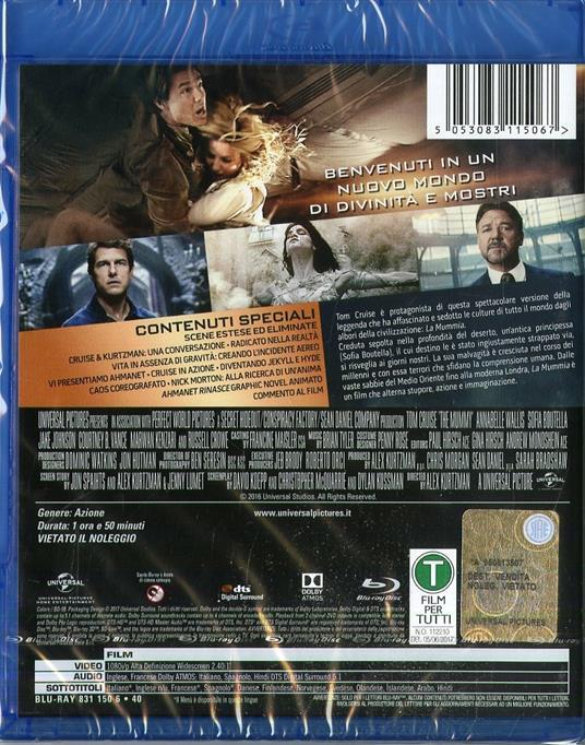 La mummia (Blu-ray) di Alex Kurtzman - Blu-ray - 2