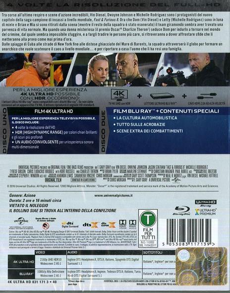 Fast & Furious 8 (Blu-ray + Blu-ray 4K Ultra HD) di F. Gary Gray - 2