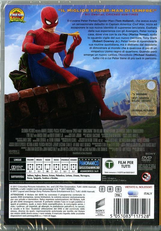 Spider-Man. Homecoming (DVD) di Jon Watts - DVD - 2