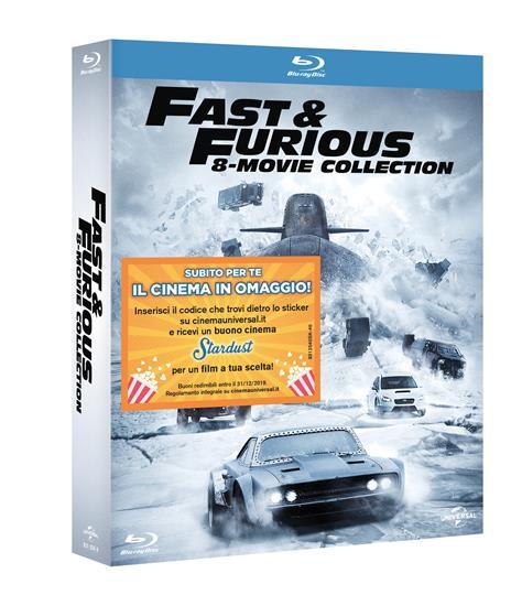 Fast and Furious. 8 Movies Collection (8 Blu-ray) di Rob Cohen,F. Gary Gray,Justin Lin,John Singleton,James Wan