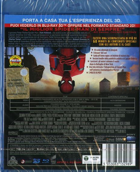 Spider-Man: Homecoming (Blu-ray + Blu-ray 3D) di Jon Watts - 2