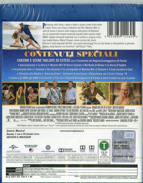 Mamma Mia! Ci Risiamo (Blu-ray) di Oliver Parker - Blu-ray - 2