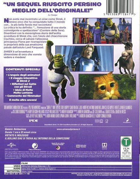 Shrek 2 (Blu-ray) di Andrew Adamson,Kelly Asbury,Conrad Vernon - Blu-ray - 3
