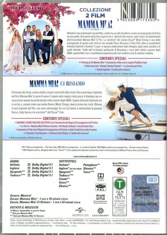 Mamma Mia! Collection (2 DVD) di Phyllida Lloyd,Oliver Parker - 2