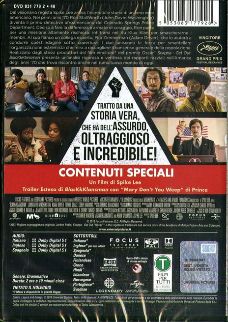 BlacKkKlansman (DVD) di Spike Lee - DVD - 2
