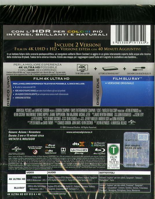 Waterworld (Blu-ray + Blu-ray 4K Ultra HD) di Kevin Reynolds - Blu-ray + Blu-ray Ultra HD 4K - 2