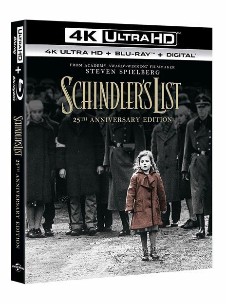 Schindler's List (Blu-ray + Blu-ray UltraHD 4K) di Steven Spielberg - Blu-ray + Blu-ray Ultra HD 4K