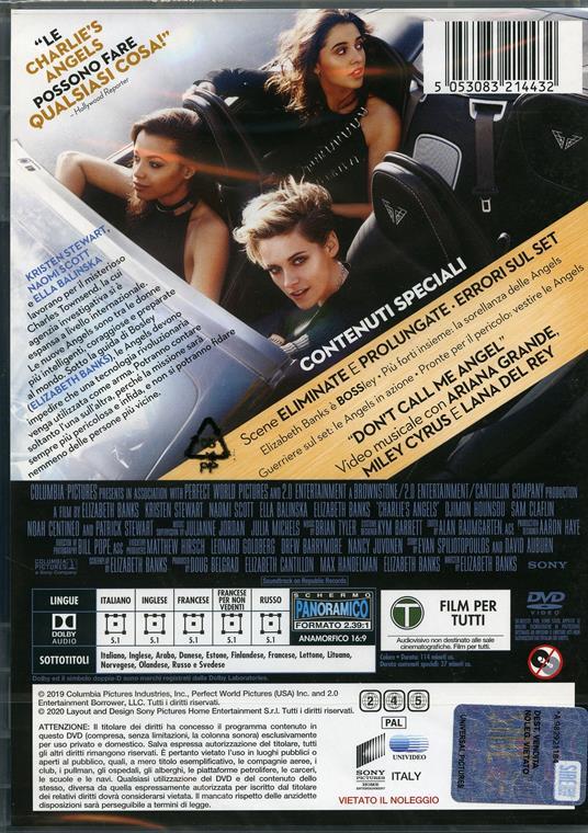 Charlie's Angels (DVD) di Elizabeth Banks - DVD - 2