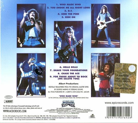 Who Made Who (Remastered) - CD Audio di AC/DC - 2