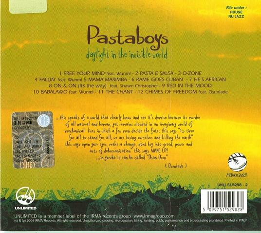Daylight in the Invisible World - CD Audio di Pastaboys - 2