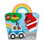 LEGO Duplo My First (10957). Elicottero antincendio e Auto della polizia