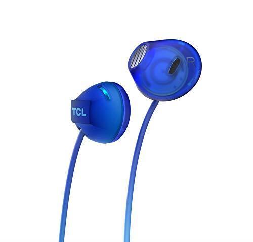 TCL SOCL200 Cuffie auricolari con microfono (Secure Fit, microfono integrato e telecomando per il controllo di musica e chiamate, cancellazione dell'eco), Blu - 3
