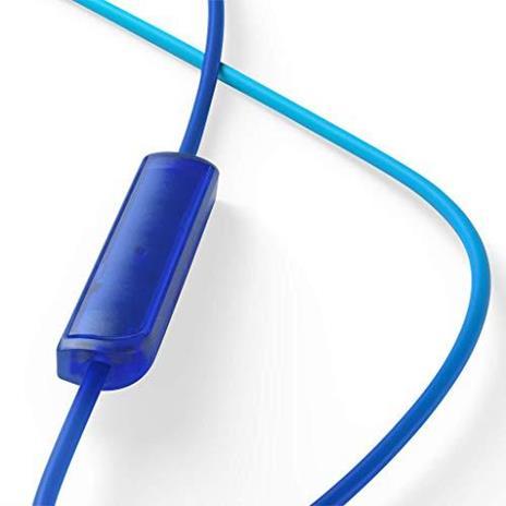 TCL SOCL200 Cuffie auricolari con microfono (Secure Fit, microfono integrato e telecomando per il controllo di musica e chiamate, cancellazione dell'eco), Blu - 4