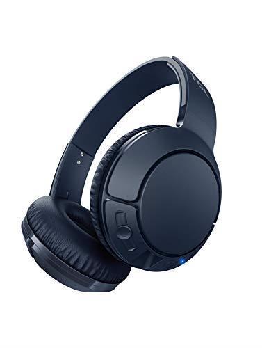 TCL MTRO200BT Wireless On Ear Headphones con microfono (Bluetooth 4.2, isolamento acustico, cuscinetti auricolari in pelle, 20 ore di gioco, ricarica rapida, pieghevole, comandi integrati), Blu - 3