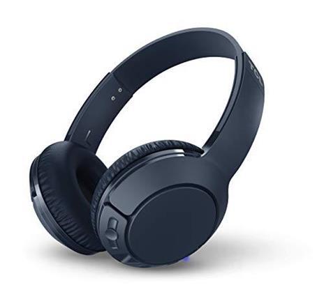 TCL MTRO200BT Wireless On Ear Headphones con microfono (Bluetooth 4.2, isolamento acustico, cuscinetti auricolari in pelle, 20 ore di gioco, ricarica rapida, pieghevole, comandi integrati), Blu