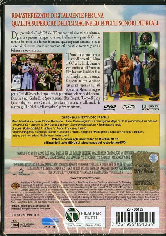 Il mago di Oz di Victor Fleming - DVD - 2