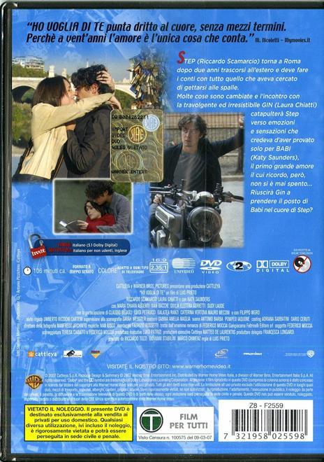 Ho voglia di te (1 DVD) di Luis Prieto - DVD - 2