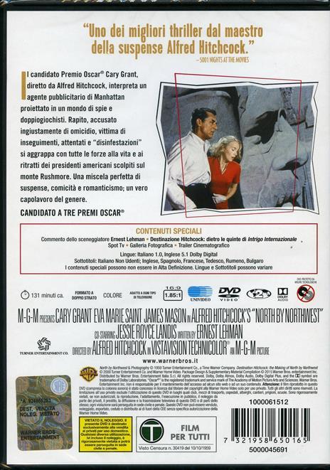 Intrigo internazionale di Alfred Hitchcock - DVD - 2