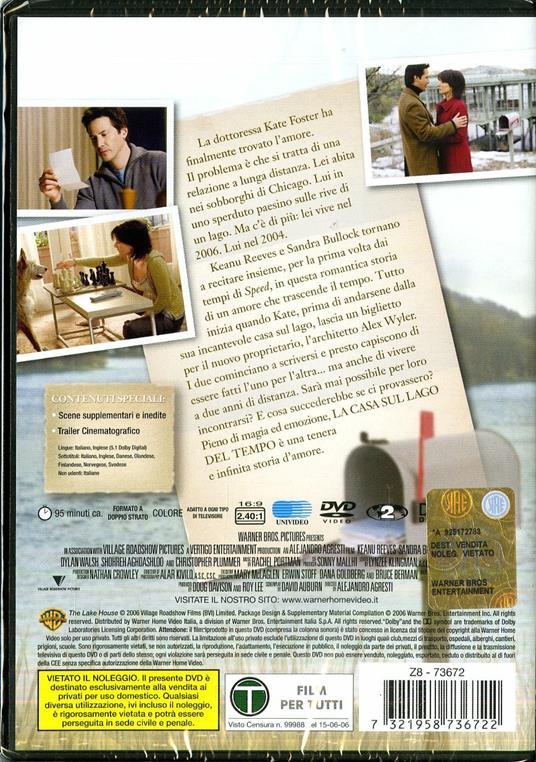 La casa sul lago del tempo di Alejandro Agresti - DVD - 2