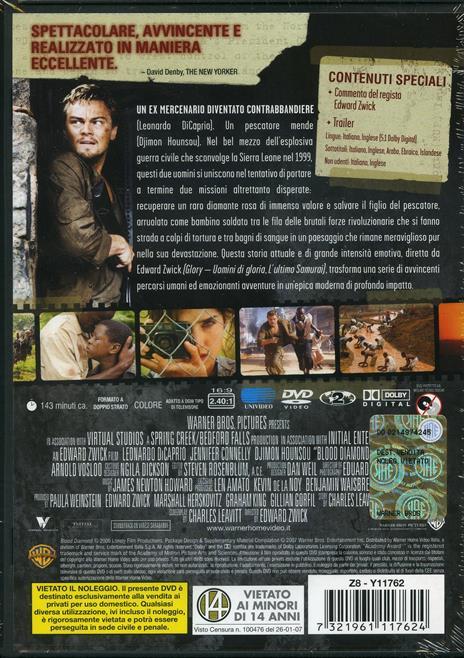 Blood Diamond. Diamanti di sangue (1 DVD) di Edward Zwick - DVD - 2