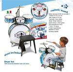 Bontempi Batteria per Bambini con Maestro Partner Maestro  Elettonico 4 Elementi con Sgabello