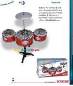 Bontempi Batteria per Bambini Giocattolo Drum Set con 3 Tamburi e Piatto