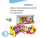 Bontempi Xilofono Bambini Xilopiano 8 Note in Metallo con 2 Bacchette