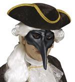 Maschera Veneziana Con Becco Nera