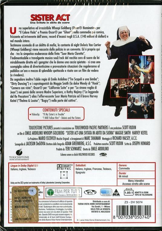 Sister Act. Una svitata in abito da suora di Emile Ardolino - DVD - 2