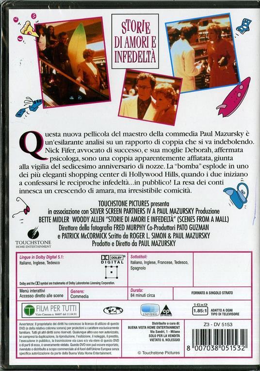 Storie di amori e infedeltà di Paul Mazursky - DVD - 2