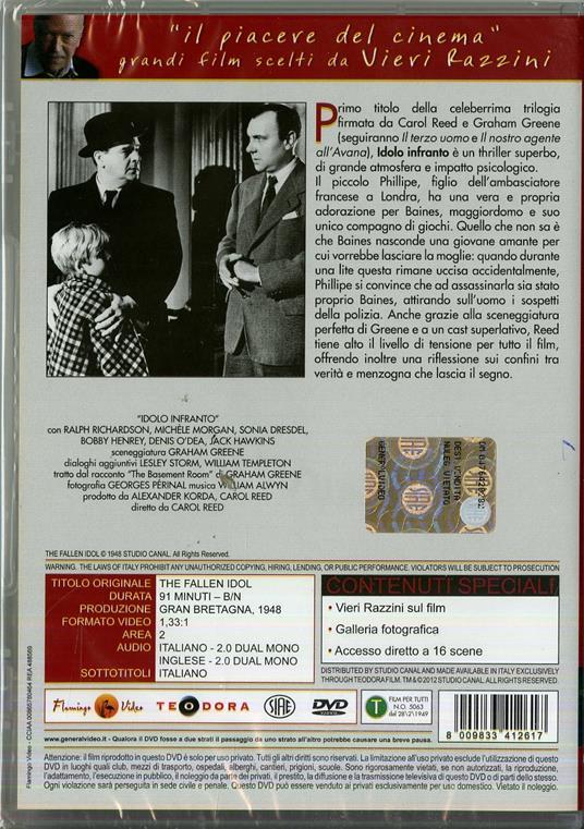 Idolo infranto di Carol Reed - DVD - 2