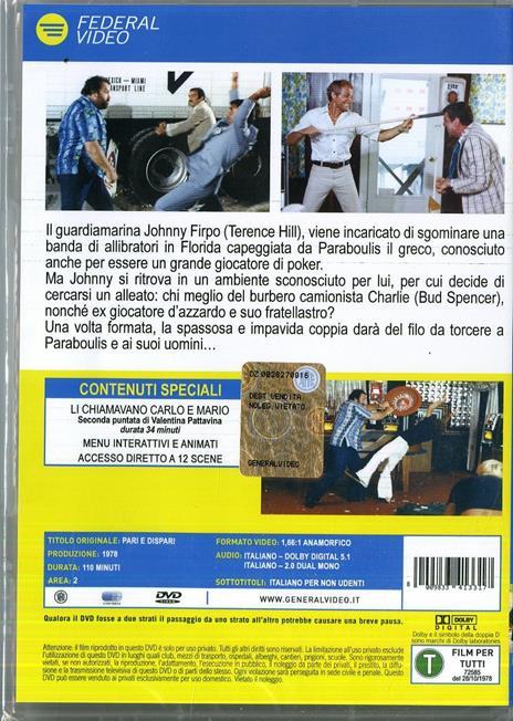 Pari e dispari di Sergio Corbucci - DVD - 2