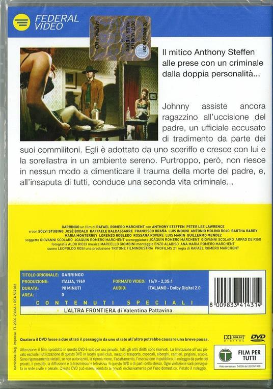 Garringo di Rafael Romero Marchent - DVD - 2